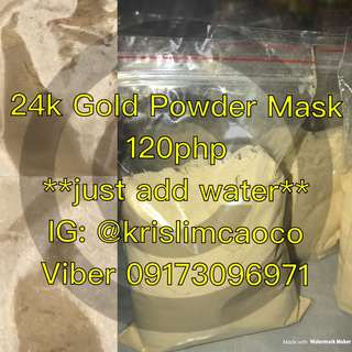 120php/50g 24K GOLD POWDER MASK