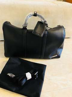 BN Leather Duffel Hand Carry Sling Bag for Men