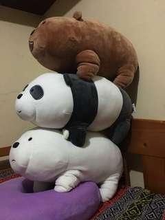 Complete We Bare Bears Panda Grizz Ice Bear