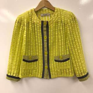 Etro see through green jacket size 38
