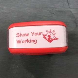 Teacher Stamp: Show Your Working