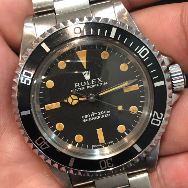 2bfe583966bf 1970 Vintage Rolex Submariner 5513 Feet First Serif Dial