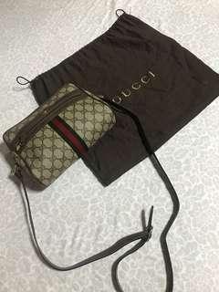 Vintage Gucci Coated Canvas Bag