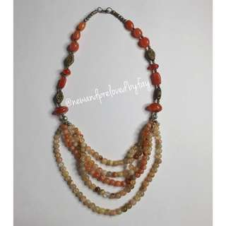 Earth Tone Stone Necklace