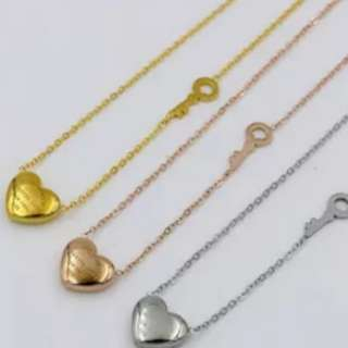 T&co heart necklace