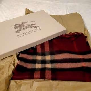 Burberry 頸巾100% cashmere