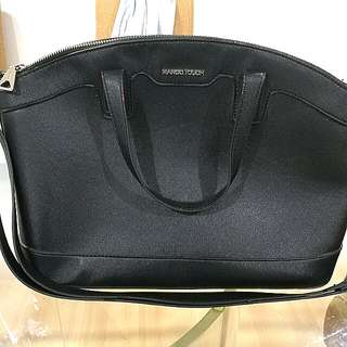 Mango touch saffiano leather effect Black - rm20 #Bajet20