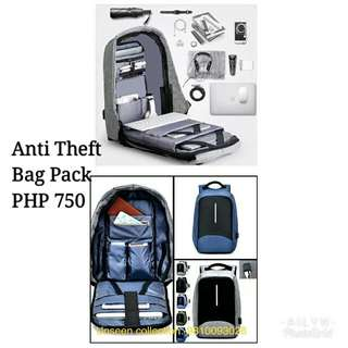 Anti theft bag pack