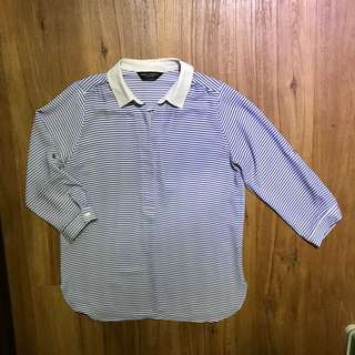 Dorothy Perkins Striped Blouse size UK 8