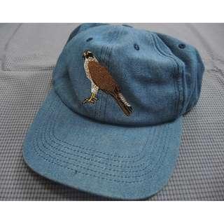 古著老鷹刺繡老帽 牛仔布 vintage cap