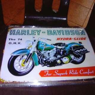 Frame plate HARLEY DAVIDSON..