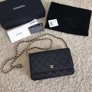 Chanel WOC (2 Types Of Leather)(Full Counter Packaging)