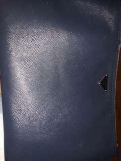 PRADA 藍色hand bag 大