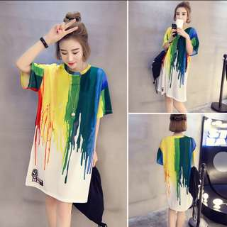 Casual colorful dress 5XL