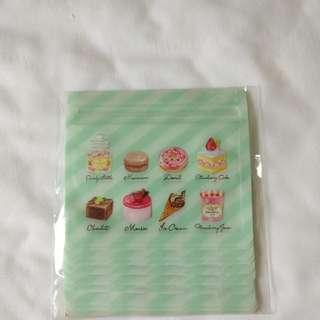 Macaron Cake 馬卡龍蛋糕旅行密實袋 雜物袋 飾物袋 10個