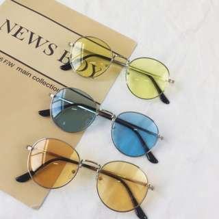 [ INSTOCK ] Yellow Round / Oval Shape Sunglasses