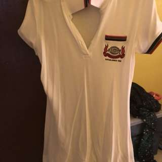 Dickies white polo shirt