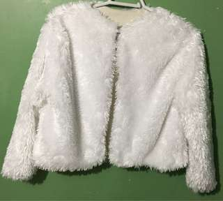 Faux Fur White Coat Party/Special O