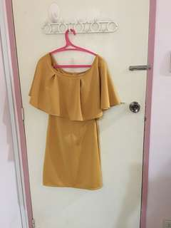 Apartment 8 mustard cocktail dress