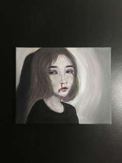 """Hurt- Acrylic on an 8""""x10"""" Canvas"""