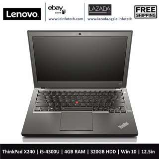 Lenovo ThinkPad X240 12.5'' LED Business Ultrabook i5-4300U@1.9Ghz 4GB RAM 320GB HDD WIN 10 Pro 30 days warranty
