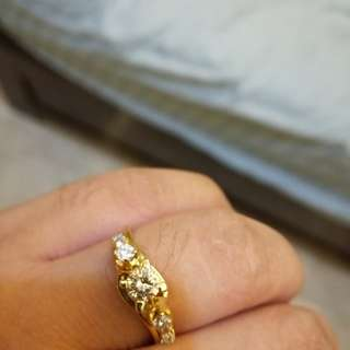 Diamond Tested!! 18karat YG almost .50 cwt Engagement Type Ring