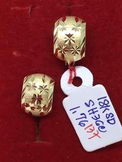 18k gold earring