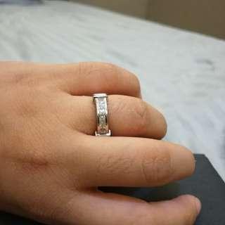 Real diamonds (tested) Princess Cut Half eternity Ring .70cwt