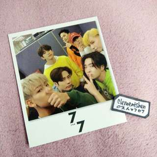 GOT7 7 For 7 Taiwan Limited Polaroid