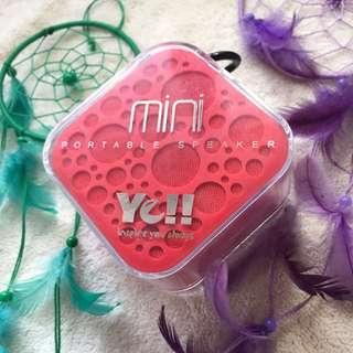 Ye!! Mini portable speaker
