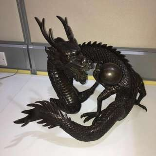 Dragon Bronze Statue
