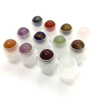 Gemstone rollers for thick rollon bottles