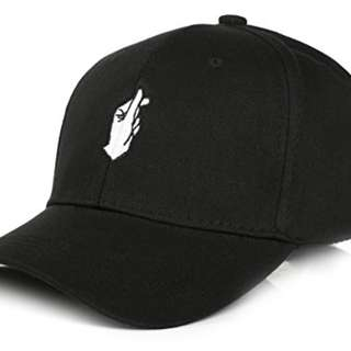 Snap Finger Trendy Black Cap