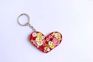 Late Valentine Quilled Heart