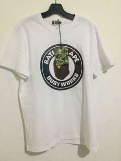 Bathing Ape Busy Works Tee White