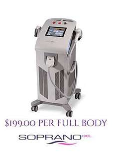 Painless Laser Hair Removal for $199.00 per visit