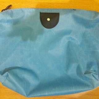 Preloved Bag Pouch Warna Biru Long Champs