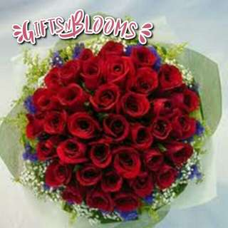 Fresh Flower Bouquet Surprise for Special Anniversary Birthday Gift V50 - SMCWU
