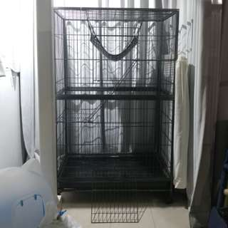 Movable Large Pet Cage for Cat Rabbit with wheels