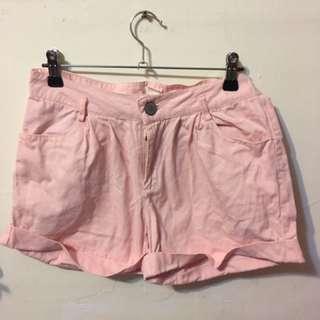 🚚 50%粉色短褲(M)