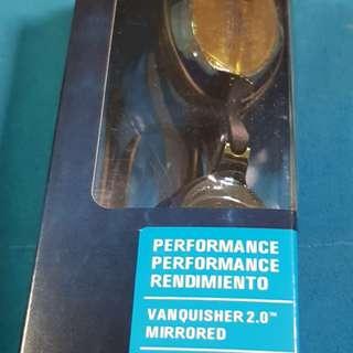 BNIB Speedo Vanquisher 2.0 competition Mirrored Goggles Training