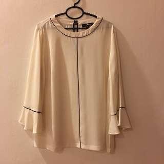 Banana republic white chiffon blouse