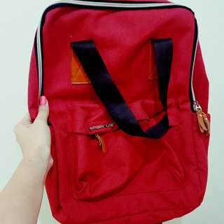 Urbanize Laptop Backpack in Red (Pre-Loved)