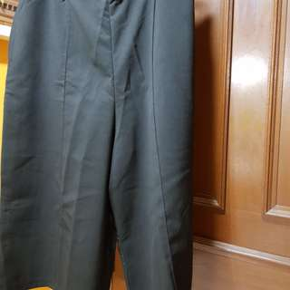 Plus Size 2L Rubberized Wide Legged Culottes. With Pockets