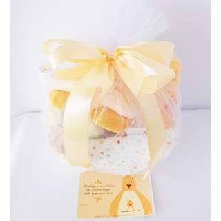 Yellow Bed & Bath Gift Basket