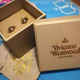 100% real Vivienne westwood earrings