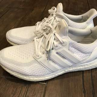 Adidas ultra boost triple white 2.0 全白 耐磨底