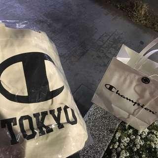 Champion Tokyo 東京限定 手提袋 男女適用 冠軍 保證正品