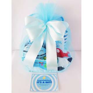 Blue Baby Boy Gift Basket