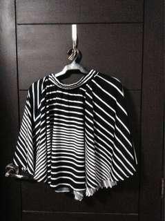stripes skirt (black & white)